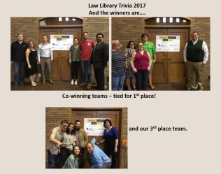 Winners of Law Library Trivia Night